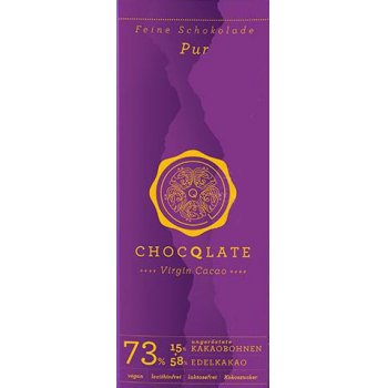 Bar Chocqlate Virgin Chocolate Pure 73% Organic, 70g