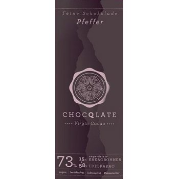 Bar Chocqlate Virgin Chocolate Pepper 72% Organic 70g