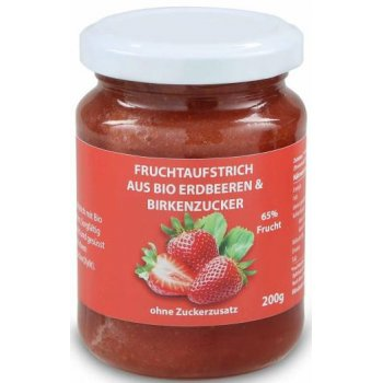 Xylit Jam with Organic Strawberry, 220g