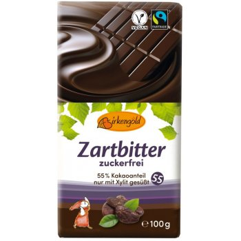 Bar Birkengold Dark Chocolate No Added Sugar Fair, 100g