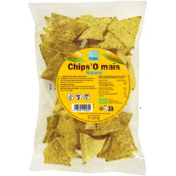 Corn Tortilla Chips Natural Organic, 125g
