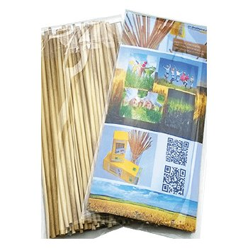 Organic Drinking Straws without plastic PLA Bag 15cm, 50 pcs