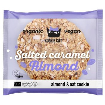 KOOKIE CAT Salted Caramel Mandel Cookie GF Bio, 50g