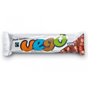VEGO Giant Bar Chocolate with Hazelnuts Organic, 150g