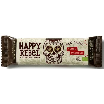 Barres Happy Rebel Bio Chocolat Cacao Passion Bio, 38g
