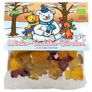 .★ Fruchtgummi mind sweets Happy Winter Buddha Bär Bio, 75g