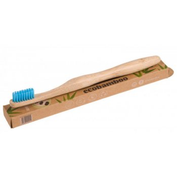 Bamboo Tooth Brush MEDIUM Blue Ecobamboo Organic