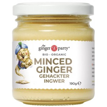 Ginger Party gingembre haché Verre Bio, 190g