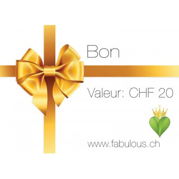 20.- Gift Voucher for fabulous! Vegan Shop Switzerland