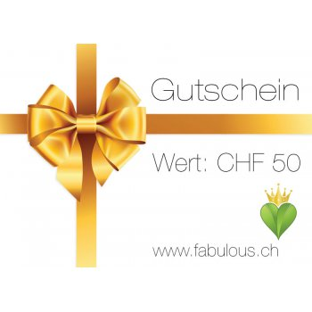 50.- Gift Voucher for fabulous! Vegan Shop Switzerland