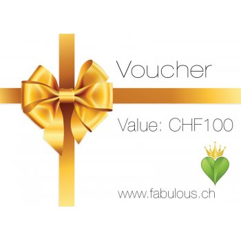 100.- Gift Voucher for fabulous! Vegan Shop Switzerland