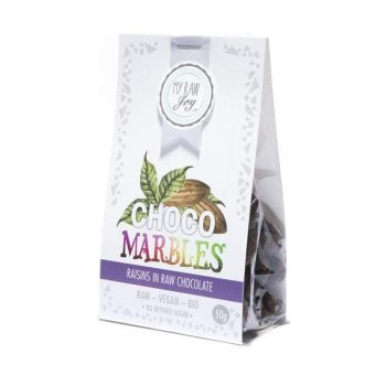 Nibble Fruits Choco Marbles Raisins Raw Organic, 50g