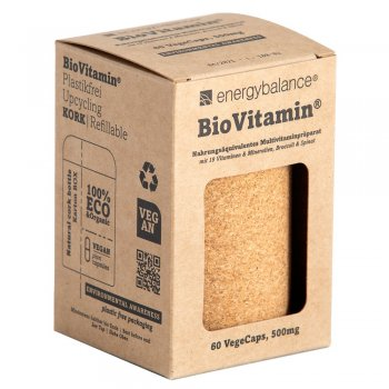 BioVitamin® Multivitamine pour recharger 500 mg, 60 capsules