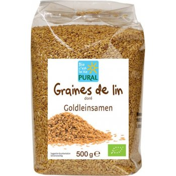 Flax Seeds Golden Organic, 500g