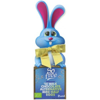 Plamil So free Vegan Bow-Tie Easter Bunny with Easter Eggs Organic, 65g