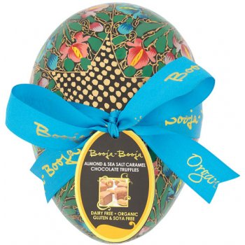 .Easter Egg Vegan LARGE Chococolate Truffles Almond Salted Caramel (hand painted, assorted) Organic, 138g