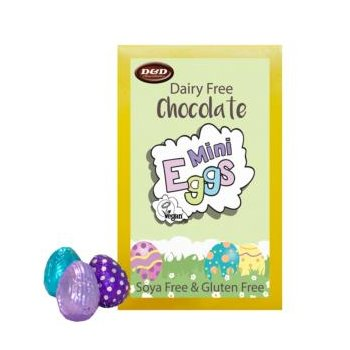 Vegan Mini Easter Chocolate Box with colorful Eggs, 120g