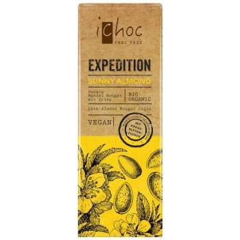 Mini Riegel iChoc Expedition Sunny Almond (Mandeln) Bio, 50g