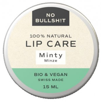 Lippenbalsam Lip Care Minty No Bullsh!t #plastikfrei, 15ml
