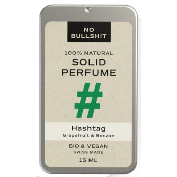 No Bullsh!t Solid Perfume Hashtag #plasticfree, 15ml
