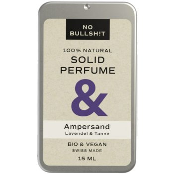 No Bullsh!t Solid Parfum Ampersand #sansplastique, 15ml