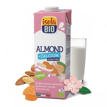 Almond Drink with Calcium, sugar-free, Organic, 1l
