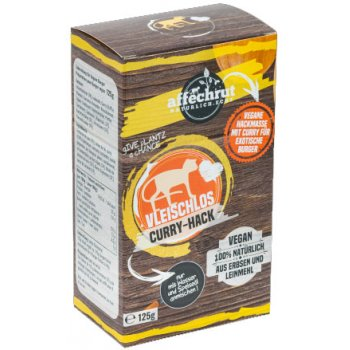 affechrut Mince-Mix CURRY Vegan Alternative to Minced Beef, 125g