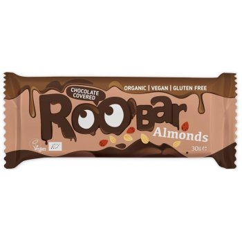 Roobar Chocolate Covered Almond Organic, 30g