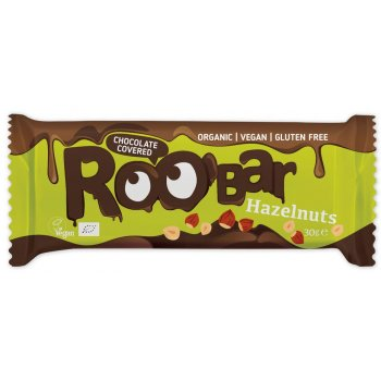 Barre Roobar Chocolat Noisettes Bio, 30g