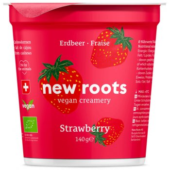 New Roots STRAWBERRY Vegan Yogurt Organic, 140g