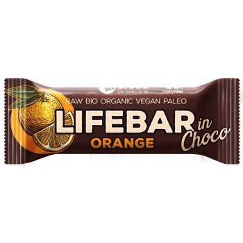 Energieriegel Lifebar inChoco Orange Raw Bio, 40g