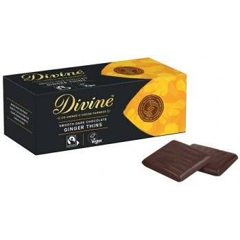 .★ Divine Ginger Dark Chocolate Thins After Dinner Mints, 130g