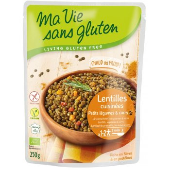 Ready Meal Lentils with Legumes & Curry Gluten-free Organic, 250g