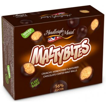 MaltyBites Crunchy Chocolate-Coated Malt Balls, 120g