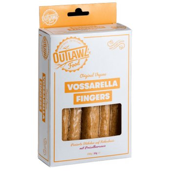 "Outlawz Vegan Alternative to Mozzarella Sticks ""Vossarella Fingers"", 230g"