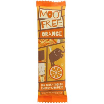 Moo Free Orange Chocolate Bar Vegan Gluten Free, 20g