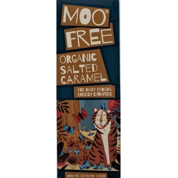 Moo Free Salt & Caramel Chocolate Bar Vegan Gluten Free, 80g