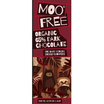 .★ Moo Free Dark 65 Chocolate Bar Vegan Gluten Free, 80g