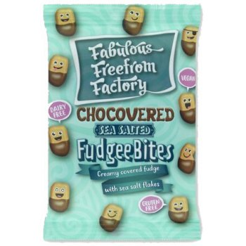 Fabulous Free From Factory Chocovered Sea Salted Fudgee Bites, 65g