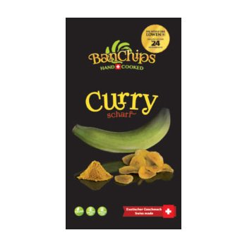 Chips SwissChips BanChips Curry Hot, 90g