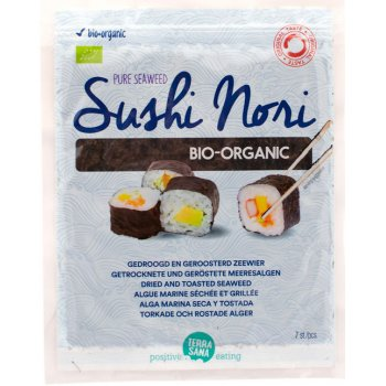 Seaweed Sushi Nori Dried and Toasted Seaweed Organic, 17g