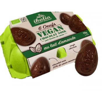 Easter Eggs 6 Vegan Chocolate Eggs Organic, 90g