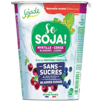 Sojade So Soya! No Added Sugar Blueberry Cherry, Organic, 400g