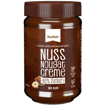 Chocolate Spread Nougat Hazelnut Xylit No Added Sugar, 300g
