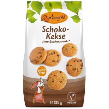 Cookies Birkengold chocolate biscuits with no added sugar, 125g