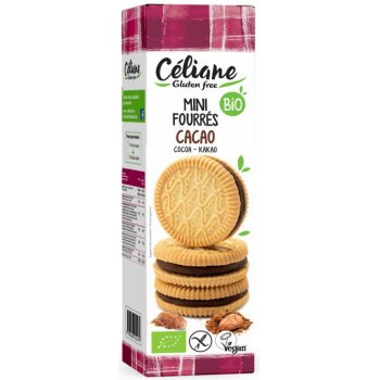 Biscuits Mini Cookies filled with Cocoa Gluten Free Organic, 125g