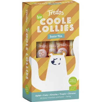 "Ice Pops Lolly Fredos Cool Lollies ""Mix"" Organic, 300ml"