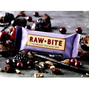 Bar Vanilla Berries Raw Organic, 50g