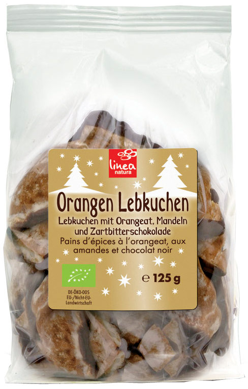 Gingerbread Lebkuchen Chocolate Orange Organic 125g