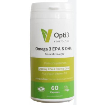 Vegan Omega-3 Capsules EPA & DHA Supplement, 60 Capsules